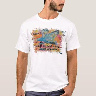 Bird Flying Messianic Jew bible verse Christian T-Shirt