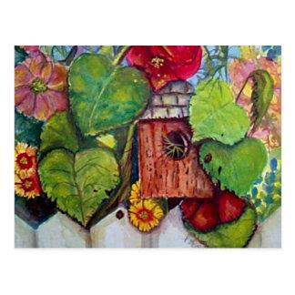 Bird House Cottage Garden Postcards