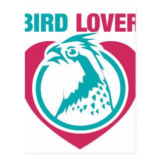 Bird lover postcard