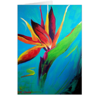 Bird of Paradise On Fire Notecard Note Card