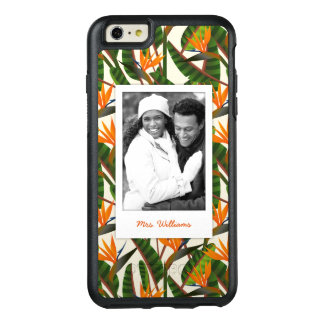 Bird Of Paradise Pattern | Add Your Photo & Name OtterBox iPhone 6/6s Plus Case