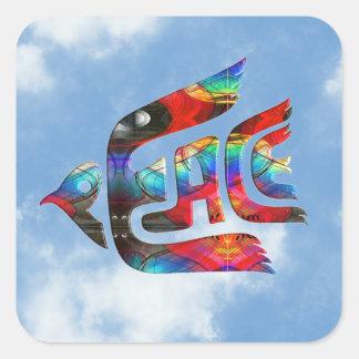 Bird of Peace Square Sticker