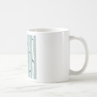 Bird on a birch coffee mug