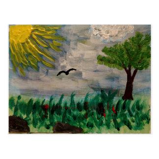 Bird on the Meadow Postcard