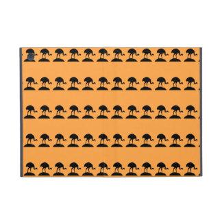 Bird Pattern in Black and Orange. iPad Mini Covers