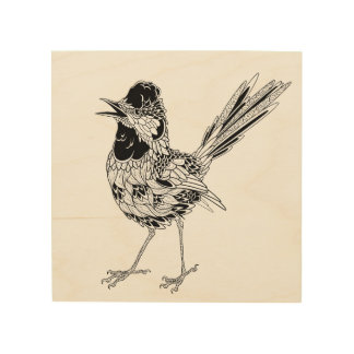 Bird Tattoo 5 Wood Wall Decor
