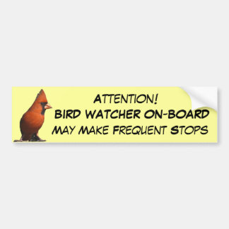 Bird Watcher Bumper Sticker