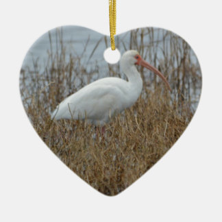 Bird White Ibis Nature Christmas Ornament