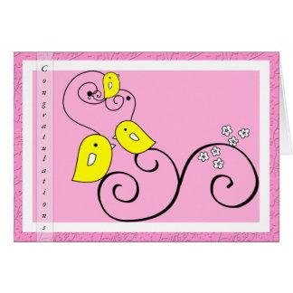 Birdie baby girl Congratulations card