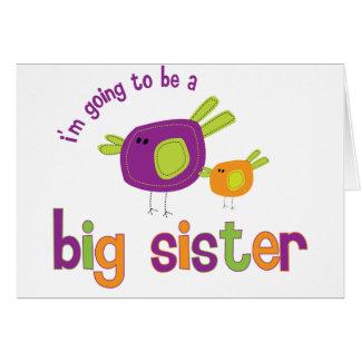 birdie big sister to be card