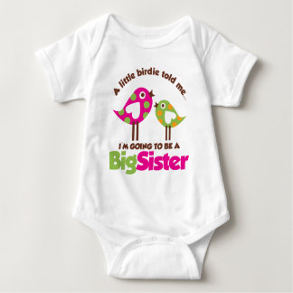 Birdie Going To Be A Big Sister Baby Bodysuit