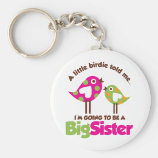 Birdie Going To Be A Big Sister Basic Round Button Key Ring