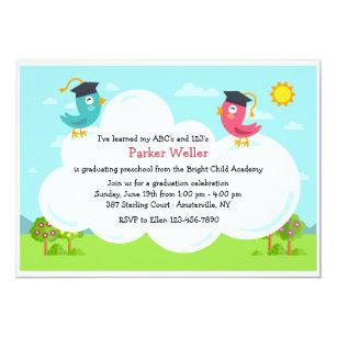 Birdie Graduation Invitation
