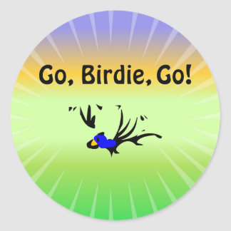 Birdie's Search for Hippo Classic Round Sticker