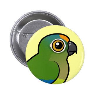 Birdorable Peach-fronted Parakeet 6 Cm Round Badge