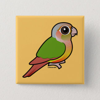 Birdorable Pineapple Green-cheeked Conure 15 Cm Square Badge