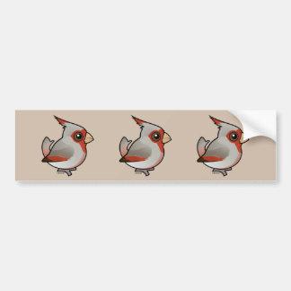 Birdorable Pyrrhuloxia Bumper Sticker
