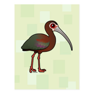 Birdorable White-faced Ibis Postcard