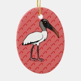 Birdorable Wood stork Christmas Ornament