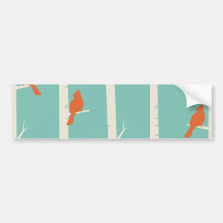Birds and Birch Trees Bumper Sticker