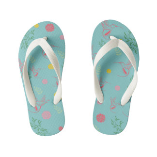 Birds and flowers! kid's jandals