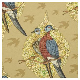 Birds Couple Vintage Fabric