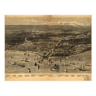 Bird's-Eye-View Of Chicago Before The Great Fire Postcard