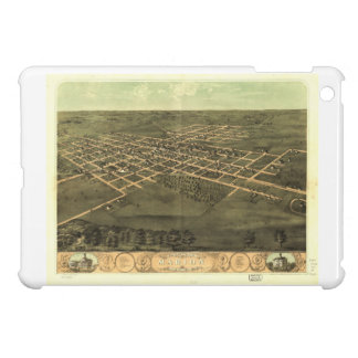 Bird's Eye View of Marion Linn County Iowa (1868) Cover For The iPad Mini