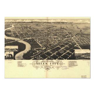 Bird's Eye View of Miles City, Montana (1883) Card