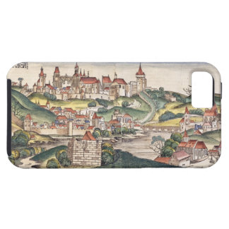 Bird's Eye View of Prague from the Nuremberg Chron iPhone 5 Cover