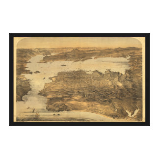 Bird's Eye View of San Francisco California (1868) Canvas Print