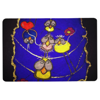 birds floor mat
