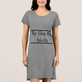 Birds Fly by Flower Fly Dress