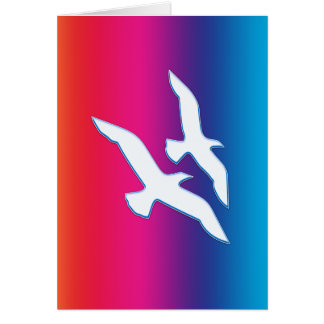 Birds Flying Rainbowrific Card