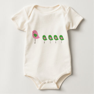 Birds in a Row Baby Bodysuit