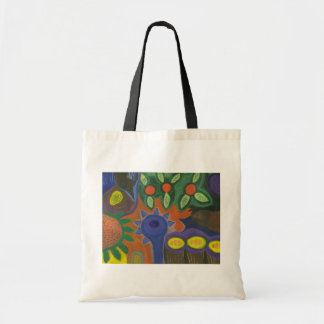 Birds in an Orange Grove Tote