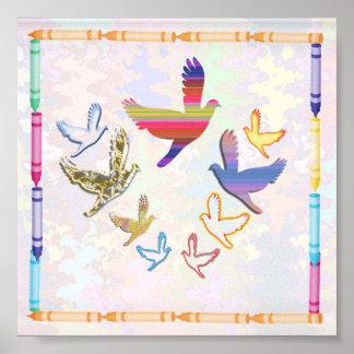 BIRDS IN THE SKY  Art Poster