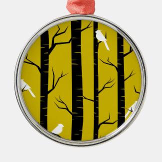 Birds in Trees Design Christmas Ornament
