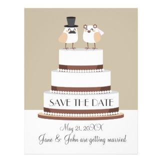 Birds Love Wedding Cake Flyer