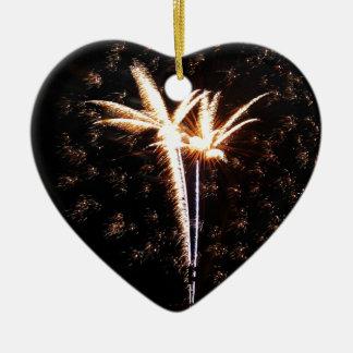 Birds of Fire Ceramic Heart Decoration