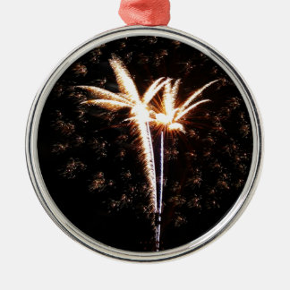 Birds of Fire Silver-Colored Round Decoration