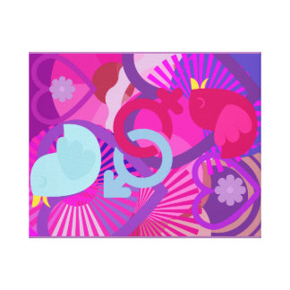 Birds of Love - Yin & Yang - His and Her Canvas Print