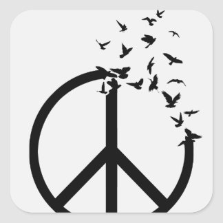 Birds of Peace Square Stickers