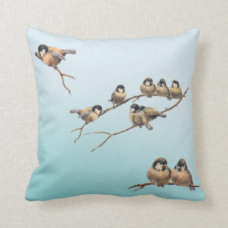 Birds Vintage Throw Pillows