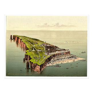 Birdseye view, Helgoland, Germany rare Photochrom Post Card