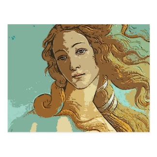 Birh of Venus, Goddess Postcard