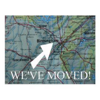 Birmingham New Address announcement Postcard