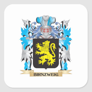 Birnzweig Coat of Arms Square Stickers