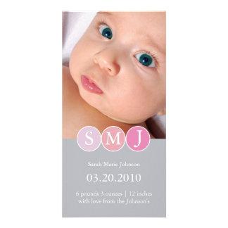 Birth Announcement Photo Card Template