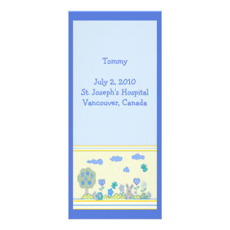 Birth Announcement Personalized Rack Card